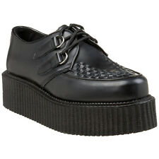 DEMONIA Men's Platform Goth Punk Rockabilly Basic Creeper Shoes CREEPER-402