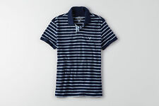 New Men's American Eagle Outfitters AEO Stripe Jersey Polo Shirt Med. L XL XXL