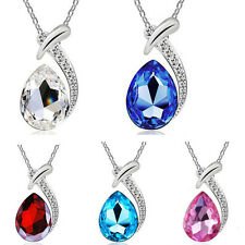 New Fashion Pendan Silver Chain Crystal Rhinestone Necklace Chain Jewelry Gift