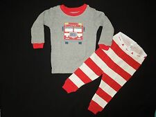 Baby Gap NWT FIRETRUCK pajamas ENGINE 9 fire dept graphic pjs rescue 6-12 12-18