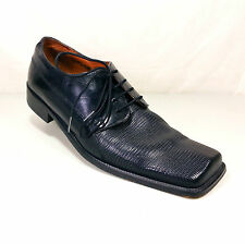 Mens Black Fratelli Leather Oxfords Dress Shoes Size 10.5 AA Extra Narrow