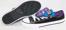 NEW Girls Infant Toddler CONVERSE Double Tongue Ox 650065F Black Sneakers Shoes