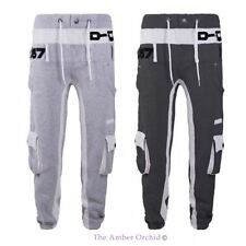 MENS FLEECE JOG D-ROCK DESIGN TRAINING JOGGING PANTS SPORT CASUAL TROUSERS S-XXL