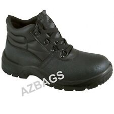 Mens STEEL TOE CAP Safety Work Boots Leather & MIDSOLE Size 3 to 13 UK - BK BOOT
