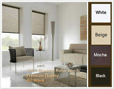 100% BLOCKOUT ROLLER BLINDS 4 COLORS AND 5 SIZE TOP QUALITY WINDOW DECORATIONS