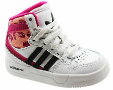 Adidas Originals Court Attitude El Kids Hi Top Trainers White Toddlers M17194