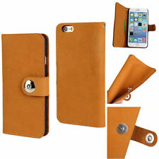 Luxury Original Soft GENUINE LEATHER Wallet Flip Case Cover For iPhone 6 6s Plus