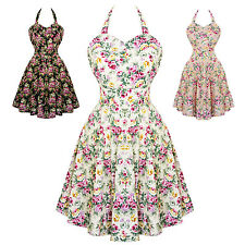 Dolly & Dotty Cynthia Floral Retro Vintage 1950s Style Party Prom Swing Dress