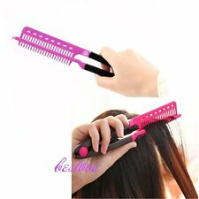 DIY Salon Hairdress Styling V Comb Hair Straightener Flat Irons Straightening GP