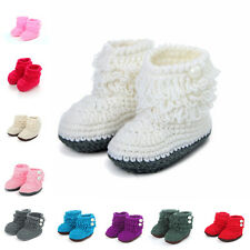 Infant Baby Boy Girl Knit Crochet Soft Shoes Boots Booties High-top Tall Socks