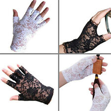 Women Amazing Goth Party Sexy Dressy Lace Gloves Mittens Fingerless Style