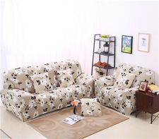 Leaf Floral Spandex Stretch Fitted Sofa Case Pet Protector for 1 2 3 4 seater L