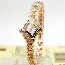 1pcs Fashion Women Alloy Crystal Quartz Rhombus Bracelet Bangle Wrist Watch
