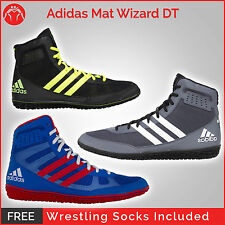 Brand New Adidas Mat Wizard DT Wrestling Shoes With Free Wrestling Socks