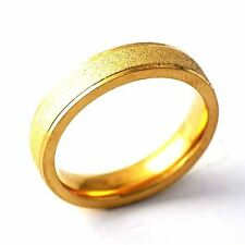 Sandy Yellow Gold Filled Womens Unisex Band Love Ring Size 6-9 free shipping