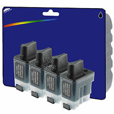 4 Black Compatible Printer Ink Cartridges for Brother LC41 / LC900 Range
