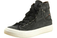 Diesel Men's Exposure I Fashion Black/White High Top Sneakers Shoes