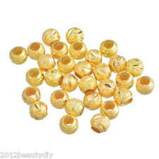 Wholesale Gold Plated Carved Stardust Spacers Beads 8mm Dia. Findings