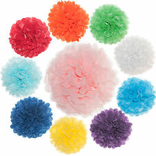 Busybead - 10 x 10 inch Tissue Paper PomPoms -Many Colour Pom Poms Available
