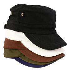 Unisex Cotton Twill Crops Hat Flat Top Cap Sun Sports Baseball Hat Casquette Cap