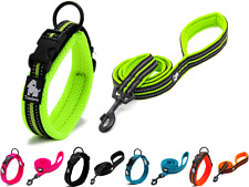 "Truelove ""Easy-On"" Padded Adjustable Reflective Dog Collar & Training Leash Set"