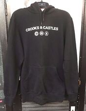 Crooks and Castles Hoodie SMUFP225 in Black Sz Small