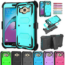 US Hybrid Rubber Armor Belt Clip Holster Case Cover for Samsung Galaxy J3 (2016)