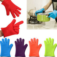 New Baking Microwave Oven Cooking Kitchen Tools Heat Resistant Silicone Gloves