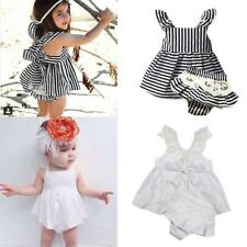 Lace Cotton Cute Strappy Toddler Girl Dress Kids Party Princess Pageant Dress