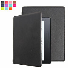 ULTRA THIN PU LEATHER CASE COVER FOR AMAZON KINDLE OASIS + SCREEN PROTECTOR