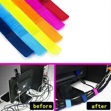50/100pcs Strap Wrap Wire Line Organizer Cable Tie Rope Holder for Laptop PC TV