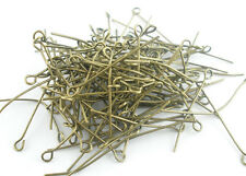 Wholesale Lots Bronze Tone Eye Pins Findings 40x0.7mm