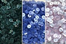 Small 11mm 18L Baby Blue Green Lilac 2 Hole Shirt Buttons Sewing Craft ML3A-B-C