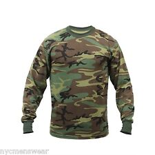 Rothco Woodland Camo Long Sleeve TShirt , Kanye West Yeezy Season 2 Style 6778