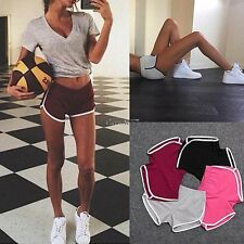 New Summer Pants Women Sports Shorts Gym Workout Waistband Skinny Yoga Short EA7