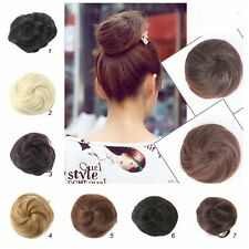 New Gilrs Pony Tail Women Clip in/on Hair Bun Hairpiece Hair Extension Scrunchie