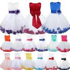 Bridesmaid Wedding Dress Junior Petals Flower Girl Dresses Princess Pageant 2-14