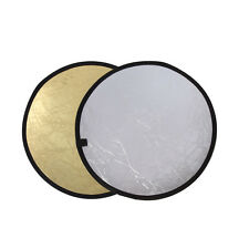 110/80/60cm 2in1 Light Mulit Collapsible Disc Photography Reflector Silver/Gold
