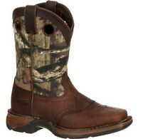 Durango Unisex Saddle Western Cowboy Pull-On Kid's Boots Brown/Camo DBT0121
