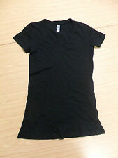 Bella+Canvas BE059 Tissue Jersey V-Neck T-Shirt - Black (Small and Medium)
