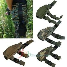 Adjustable Tactical Pistol Gun Drop Leg Thigh Holster With Mag Pouch Right Hand