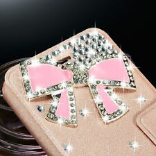 Luxury Bling Crystal Flip Leather Case Cover Wallet For Samsung Galaxy iPhone