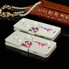 New Luxury Diamond Leather Magnetic Flip Card Wallet Case Cover For Apple iPhone