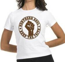 T-shirt Northern Soul, T-shirt white woman, logo Keep the faith, music dance