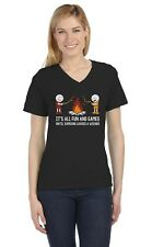 It's All Fun And Games Until Someone Looses A Weiner V-Neck Women T-Shirt Funny