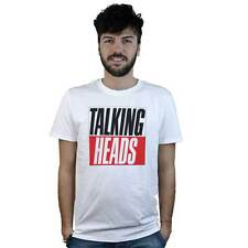 T-shirt Talking Heads T-shirt white with logo music pop, rock, new wave