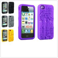 3D Sculpture Castle Town Silicone Soft Gel Skin Case Cover For Apple iPhone 4 4S