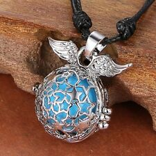 Star Wings Fairy Locket Angel sounds bell Pendant pregnant chimes Chain Necklace