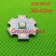 5W 5050 Ultra Violet UV 365nm 380nm 395nm 420nm High Power Led Emitter +20mm pcb