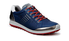 ECCO 2016 Mens Biom Hybrid 2 True Navy Brick Hydromax Leather Golf Shoes